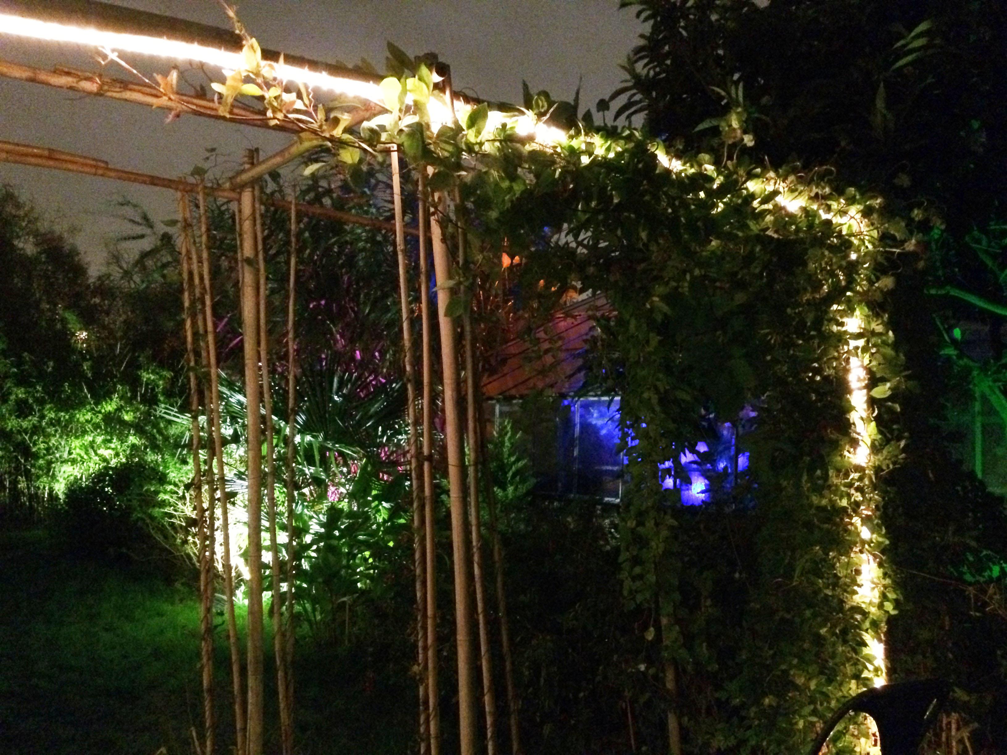 eclairage jardin paris